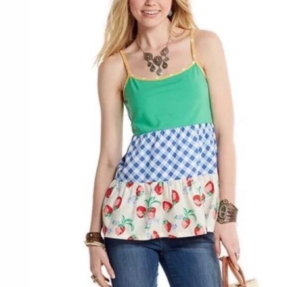 MATILDA JANE Happy & Free Biscotti Strawberry Tank